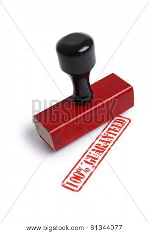 100% Guaranteed Rubber Stamp