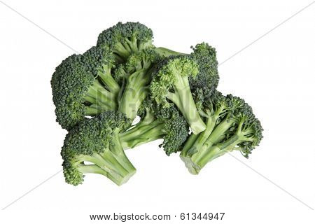 Broccoli cut out on white background