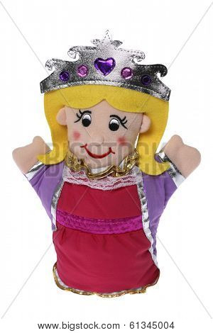 stuffed princess doll on white background