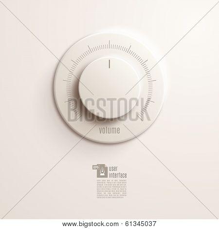 Volume switch. Vector Illustration EPS10.