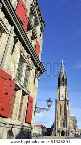 The Nieuwe Kerk In Delft