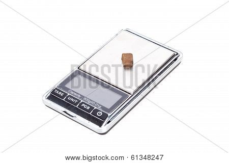 Piece Of Hashish On Digital Scales