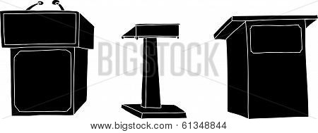 Silhoutte Lecterns