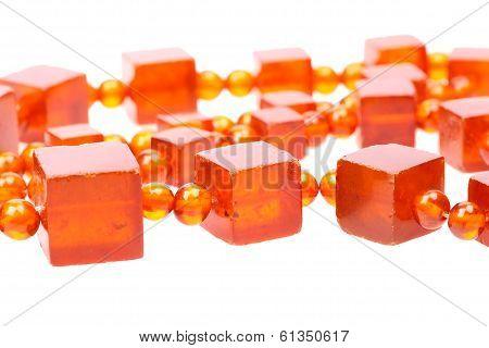 Baltic amber retro beads