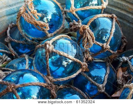 Blue Glass Fishing Floats