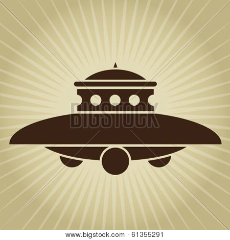 Vintage UFO Illustration