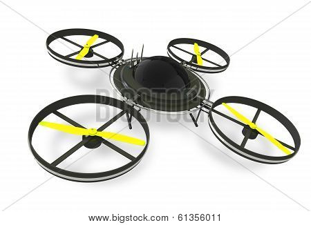 Quadcopter Dron Isolated