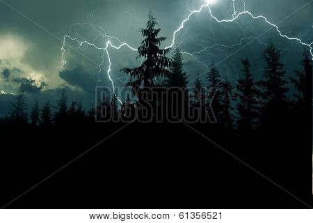 Stormy Night Background