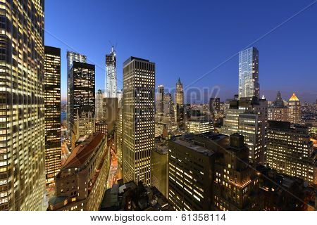 Twilight Over Lower Manhattan
