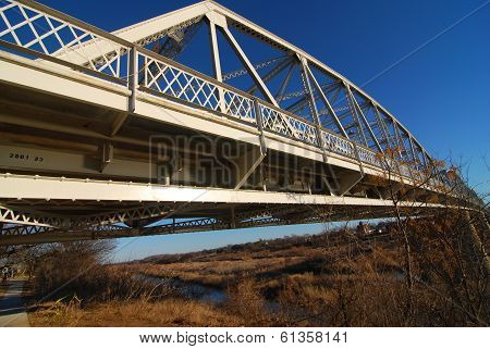 Bridge over Llano river in Llano Texas