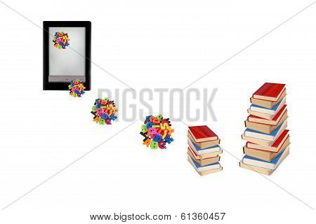 Electronic Book, E-learning, Information In E-book, Modern Education Concept.