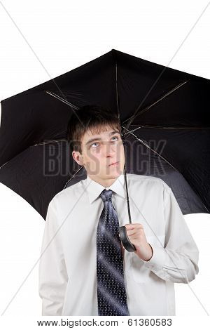 Teenager With Umbrella