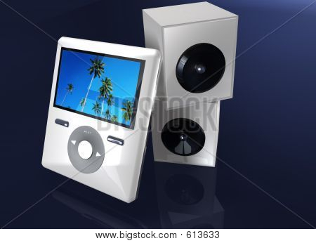 Video Or MP3 Player With Speaker