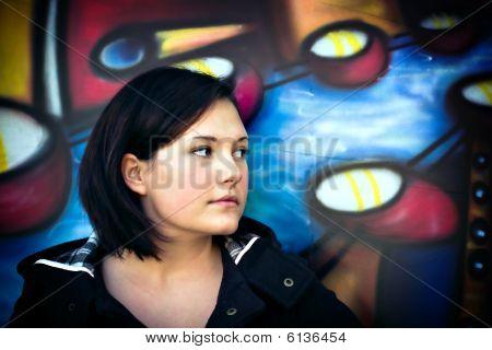 Woman In Urban Setting