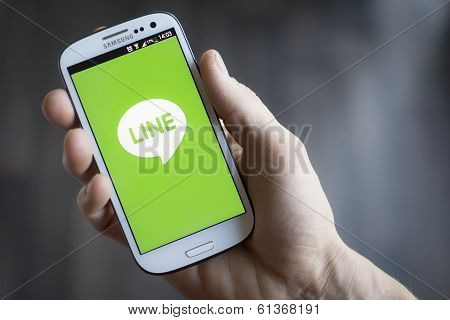 Line mobile application