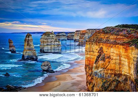 The Twelve Apostles, Great Ocean Road, Victoria - HDR image