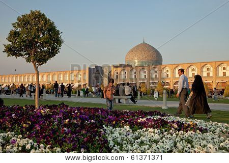 Naqsh-e Jahan Square In Isfahan City