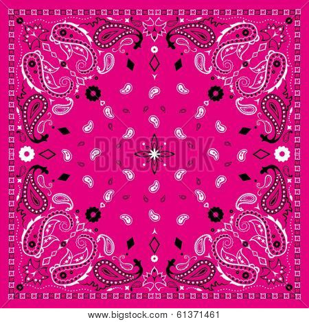 Pink Paisley Bandana Pattern