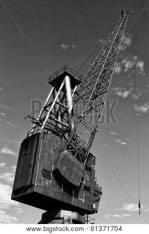 Derelict dock crane on Cockatoo Island, Sydney