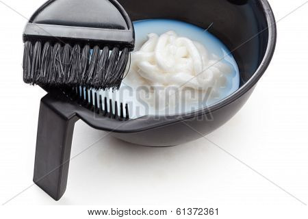 Bowl With Peroxide And Brush