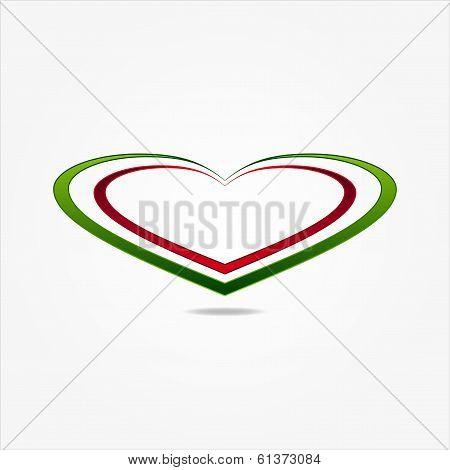 Graphic design with Italian flag