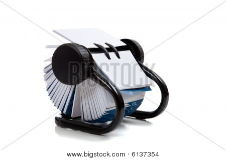 Rolodex File On A White Background