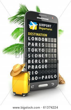 3d smartphone airport board