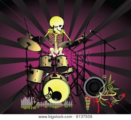 Cartaz de música;Banda de esqueleto