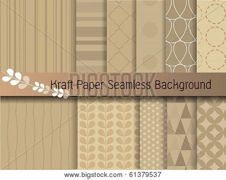 Kraft Paper Seamless Background