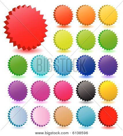 3D vector star badges with shadow  collection. Perfect for icons or text.