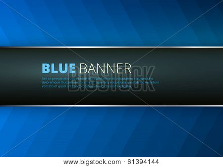 Blue background with banner place