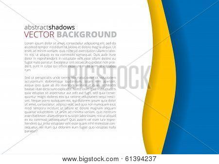 White and rainbow elegant business background