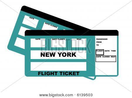 New York Flight Ticket