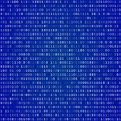 image of blue-screen-of-death  - Blue screen of death computer binary code  vector background - JPG