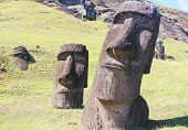 Moai at Quarry, Easter Island, Chile