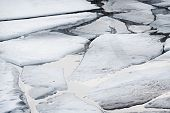 foto of shaky  - Cracked ice on Gulf of Finland in Russia - JPG