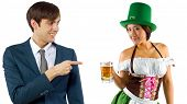 picture of st patty  - young female dressed in St Patty - JPG
