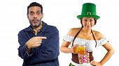 stock photo of st patty  - young female dressed in St Patty - JPG