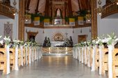 image of church interior  - Shrine Of Our Lady Of Fatima Zakopane Poland - JPG