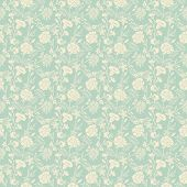 picture of damask  - Seamless vector abstract floral pattern for retro wallpaper background design - JPG