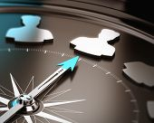 image of compasses  - Recruitment or hiring qualified candidate concept - JPG