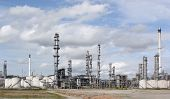stock photo of ozone layer  - photo of  oil refinery at day time - JPG