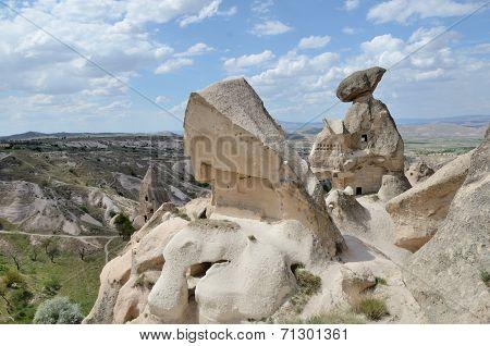 Ancient Stone Dwellings In Cappadocia