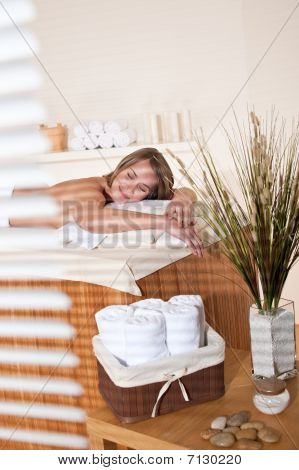 Spa - Young Woman Relax At Massage Treatment