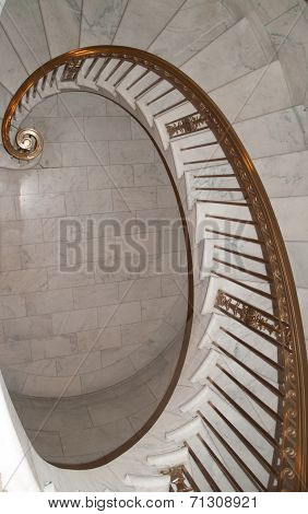 Spiral staircase leading down