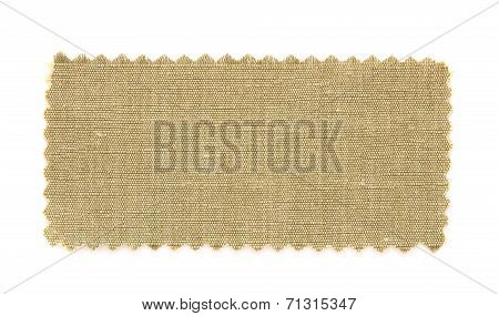 Brown Fabric Swatch Samples Isolated On White Background