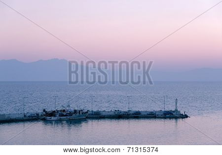 Twilight On The Gulf Of Thermaikos, Greece