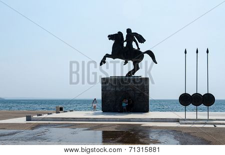 Greece, Thessaloniki. Monument To Alexander The Great