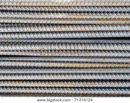 Reinforce Steel Rod Texture Background