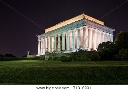 The Lincoln Memorial at Night in Washington DC